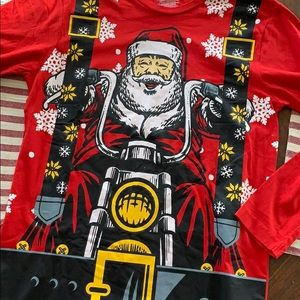 Other - Santa Christmas Motercycle ugly sweater